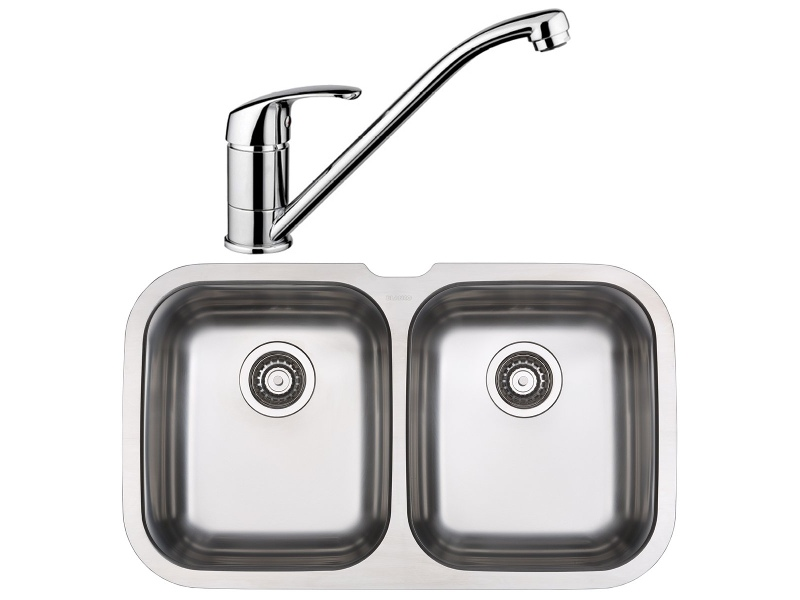 Blanco NIAGARAU2D-BT489 Double Bowl Undermount Sink and Tap