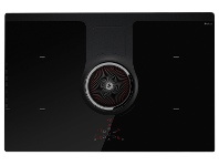 Appliances Online Elica NIKOLATESLABL/F/83 83cm Filtered Induction Cooktop with Integrated Ventilation System