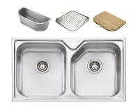 Appliances Online Oliveri NP663 Nu-Petite Double Bowl Topmount Sink