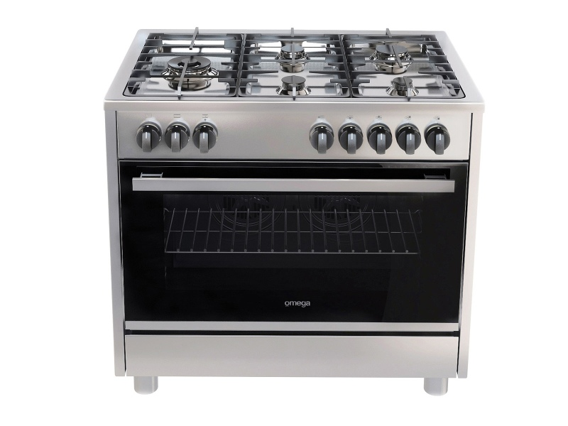 Omega OF914FX 90cm Freestanding Dual Fuel Oven/Stove