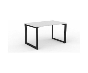 OLG Anvil Straightline Desk 1200x750 White Worktop with Black Frame OG_ANBSD1275_W