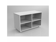 Appliances Online OLG Axis Double Bookcase Caddy Mobile Bookcase 993 x 640 White OG_AXFCMB_W