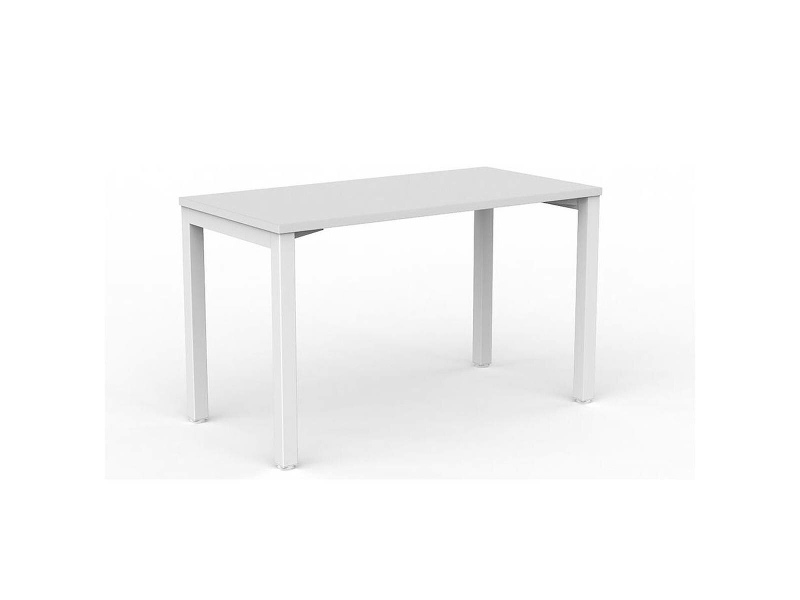 OLG Axis Straightline Desk 1200x600 White Worktop with White Frame OG_AXSD126_W