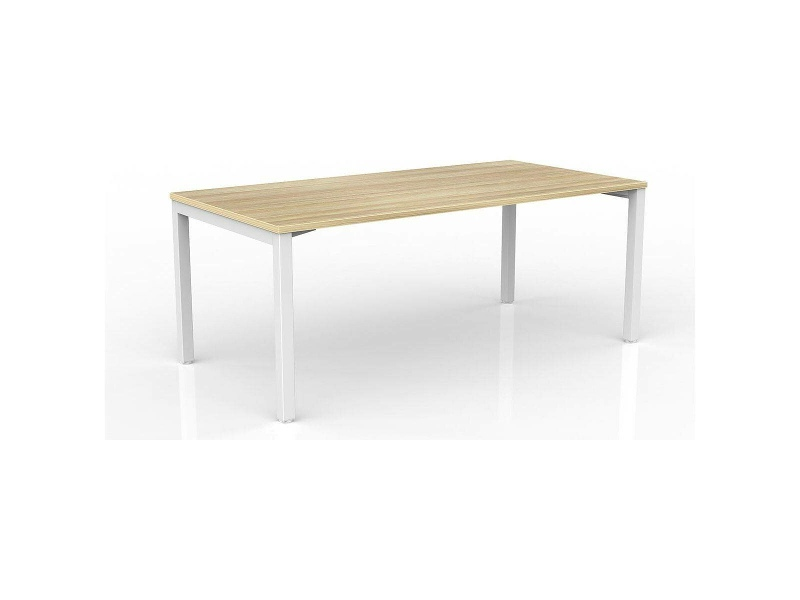 OLG Axis Straightline Desk 1800x900 New Oak Worktop with White Frame OG_AXSD189_NO