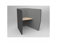 OLG Motion Zip Work Pod 1 User Charcoal with Solid Beech Worktop OG_MZIP1CLST_BE