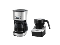 Appliances Online Sunbeam Auto Brew Drip Filter Coffee Maker and Milk Frother Pack PC7900EM0180