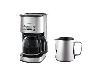 Appliances Online Sunbeam Auto Brew Drip Filter Coffee Maker with Milk Frothing Jug PC7900EM0260