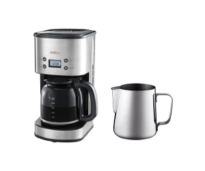 Sunbeam Auto Brew Drip Filter Coffee Maker with Milk Frothing Jug PC7900EM0260