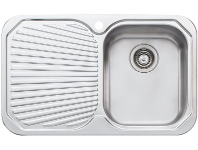 Appliances Online Oliveri PE322 Petite Single Bowl Left Hand Drainer Topmount Sink