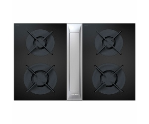 BORA 85cm Professional Natural Gas Cooktop with Integrated Ventilation System PKASG