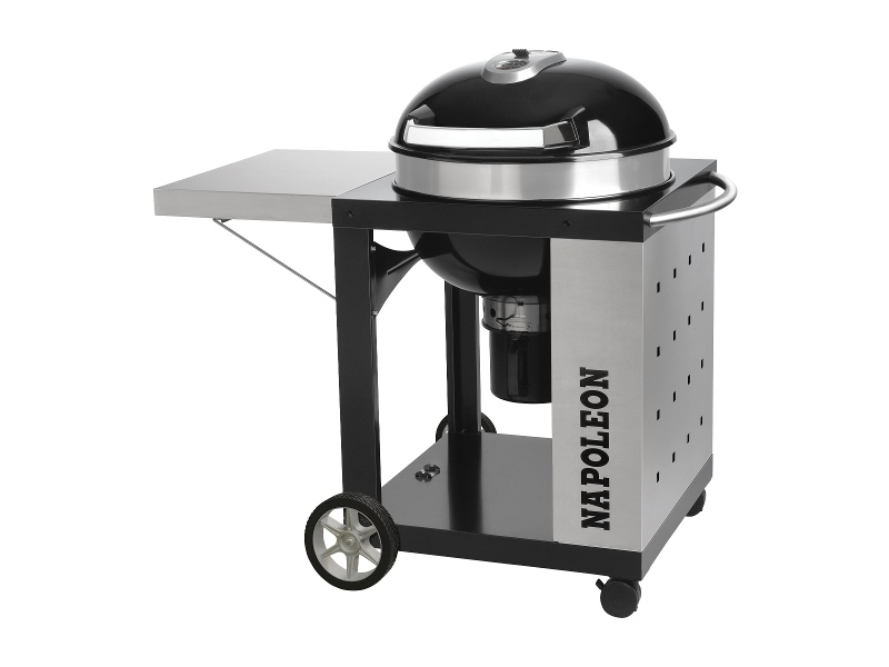 Napoleon PRO22K-CART-2 Charcoal Fuel Kettle BBQ With Cart