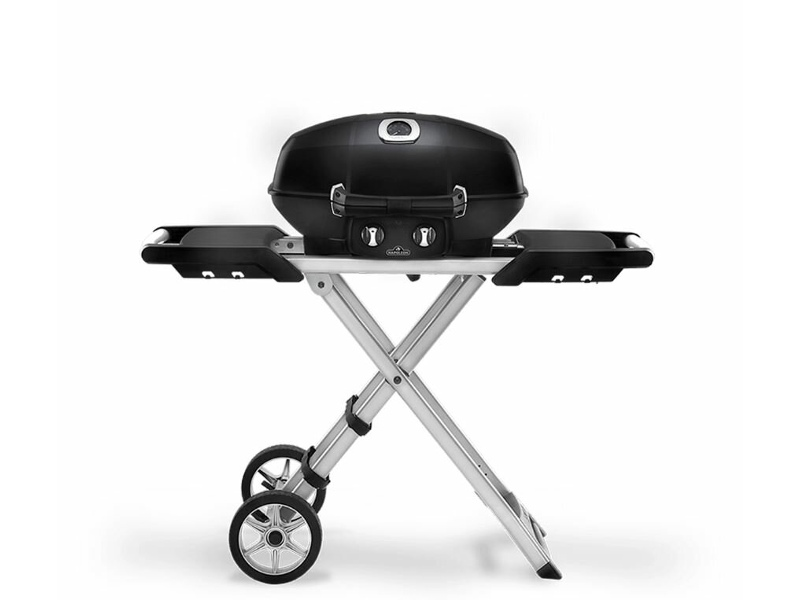 Napoleon PRO285-X-BK-AU Scissor Cart Travel Q Pro High Lid LPG Portable BBQ