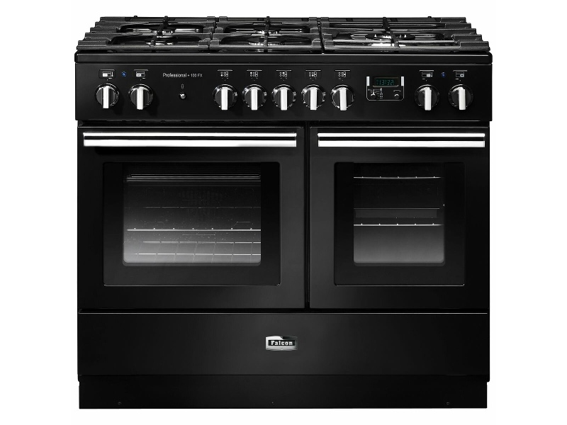 Falcon 100cm Professional FX Freestanding Dual Fuel Oven/Stove PROPL100FXDFBL-CHLPG