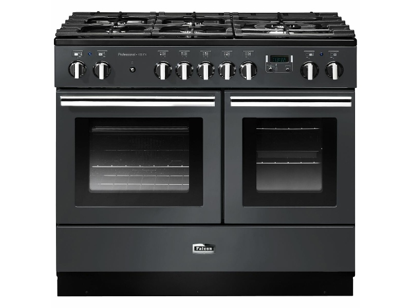 Falcon 100cm Professional FX Freestanding Dual Fuel Oven/Stove PROPL100FXDFSL-CHLPG