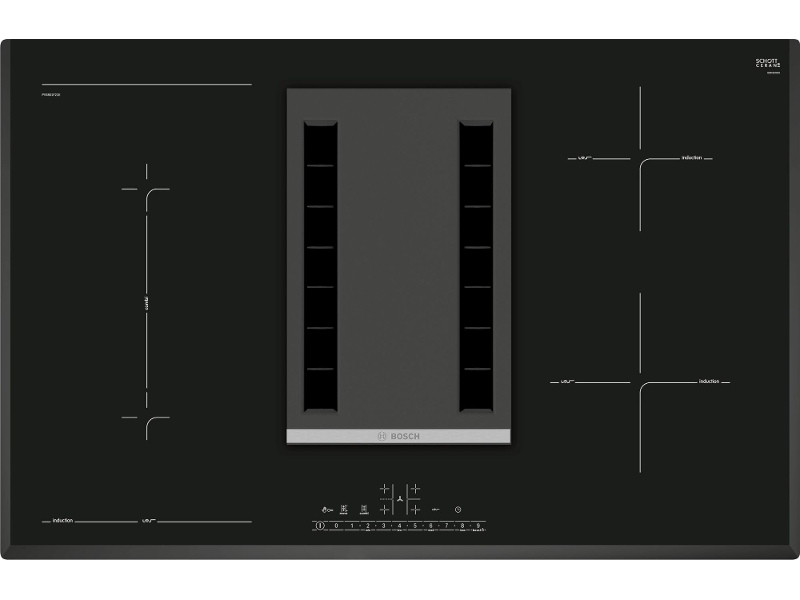 Bosch PVS851F21E 80cm Serie 6 Induction Cooktop with Integrated Ventilation System