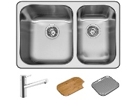 Appliances Online Abey Q180T NuQueen 1 and 3/4 Bowl Sink Pack