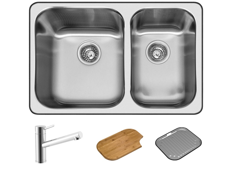Abey Q180T NuQueen 1 and 3/4 Bowl Sink Pack