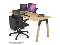 Appliances Online Jason.L 1400mm Quadro A Leg Maple Desk with Natural Leg Black Cross Beam QDW1407.B.ME