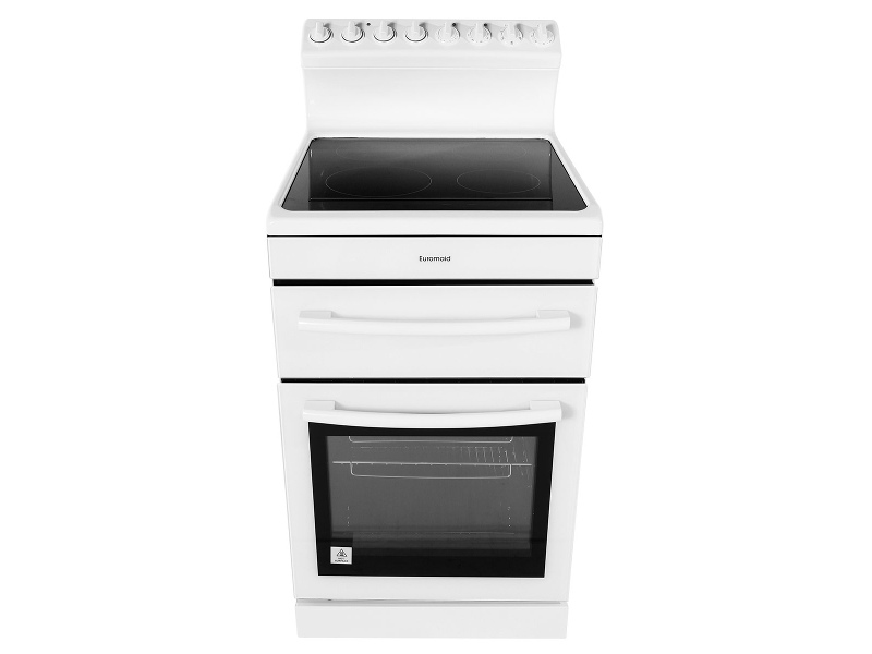 Euromaid R54CW 54cm Freestanding Electric Oven/Stove