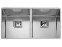 Appliances Online Artinox RADIU2V80 Radius Double Bowl Undermount Sink