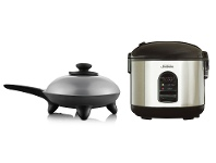 Appliances Online Sunbeam Rice Perfect Deluxe 7 Rice Cooker and Classic Skillet Fry Pan Pack RC5600SK4200P