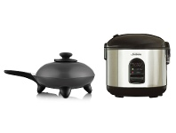 Appliances Online Sunbeam Rice Perfect Deluxe 7 Rice Cooker and DuraCeramic Skillet Fry Pan Pack RC5600SK6000