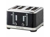 Appliances Online Russell Hobbs Structure 4 Slice Toaster Black RHT334BLK