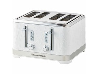 Appliances Online Russell Hobbs Structure 4 Slice Toaster White RHT334WHI