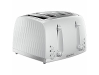 Appliances Online Russell Hobbs Honeycomb 4 Slice Toaster White RHT704WHI