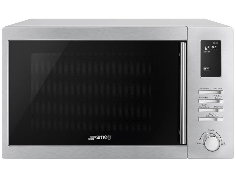 Smeg SA34MX 34L 1000W Microwave Oven with Grill