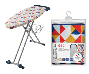 Sunbeam Geo Reversible Ironing Board Cover and Couture Ironing Board Pack SB0840SB8400