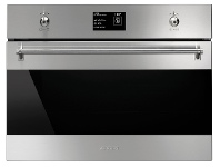 Appliances Online Smeg SFA4395VCX1 45cm Classic Aesthetic Compact Built-In Combi-Steam Oven
