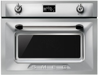 Smeg SFA4920VCX 45cm Victoria Aesthetic Compact Electric Built-In Combi-Steam Oven