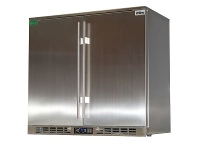 Appliances Online Rhino Stainless Steel 2 Door Stainless Steel Bar Fridge SG2H-SD