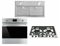 Appliances Online Smeg 60cm Pyrolytic Oven, 60cm Natural Gas Cooktop & 52cm Under Cupboard Rangehood Pack SMEGSTYLEPACK4