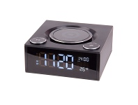 Appliances Online Laser SPK-QC002 Qi Wireless Charging Alarm Clock with Bluetooth Speaker