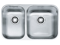 Appliances Online Franke SQX120C-L-2 Steel Queen 1 and 1/2 Bowl Undermount Sink