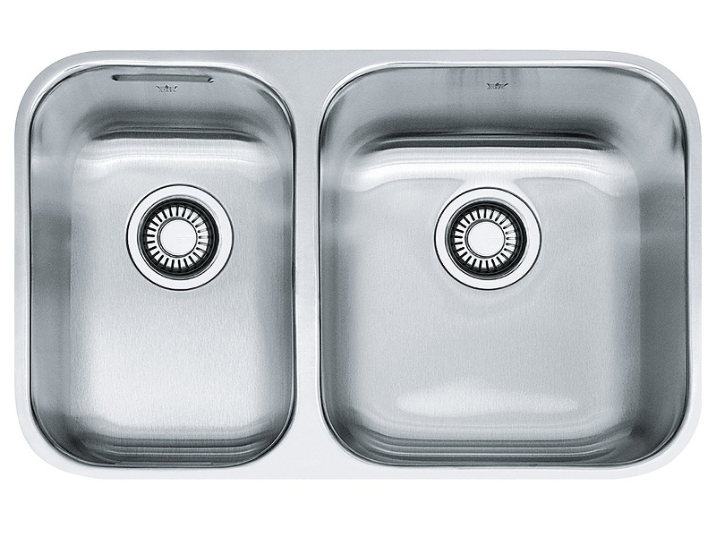 Franke SQX120C-L-2 Steel Queen 1 and 1/2 Bowl Undermount Sink