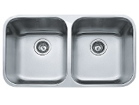 Appliances Online Franke SQX120D-2 Steel Queen Double Bowl Undermount Sink