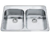 Appliances Online Franke SQX620DT Steel Queen Double Bowl Sink