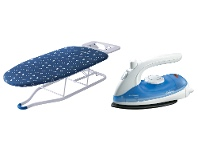Appliances Online Sunbeam Pro Steam Travel Iron and HiLo Adjustable Tabletop Ironing Board Pack SR2300SB1300