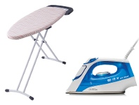 Appliances Online Sunbeam Prosteam Auto Off Steam Iron and Mode Ironing Board Pack SR4315SB4400