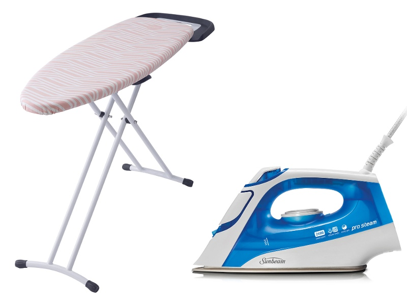 Sunbeam Prosteam Auto Off Steam Iron and Mode Ironing Board Pack SR4315SB4400
