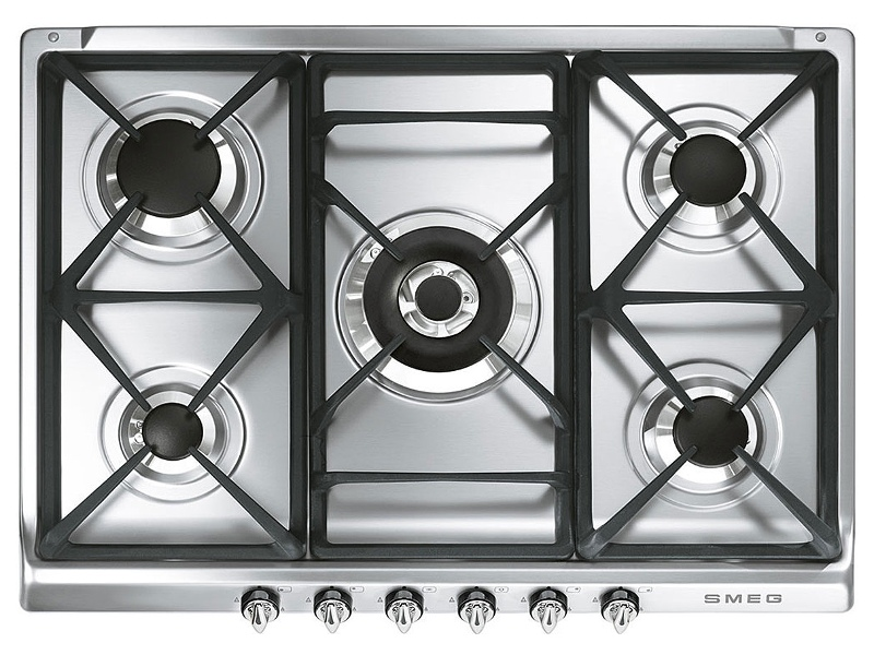 Smeg SRA975XGH 70cm Victoria Aesthetic Natural Gas Cooktop