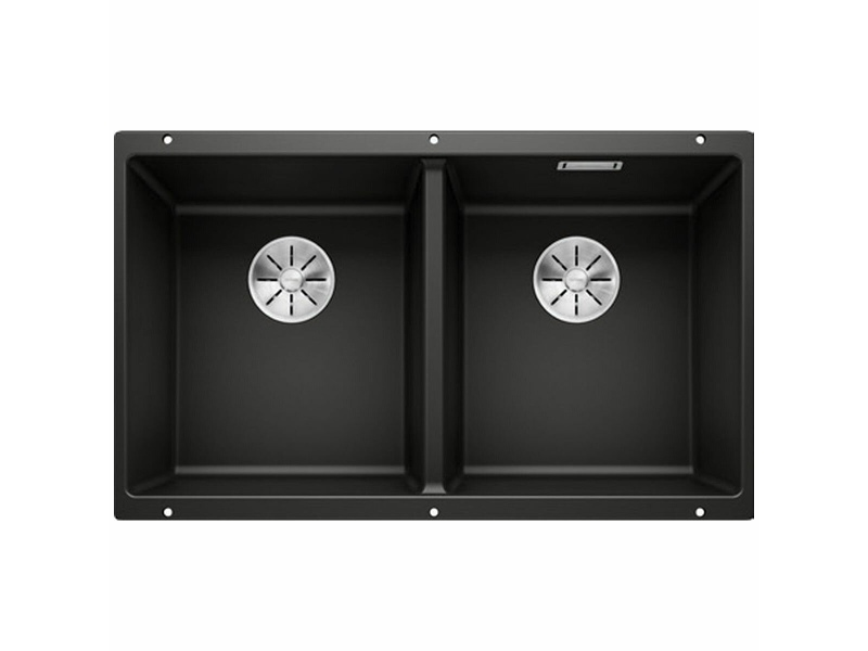 Blanco SUBLINE 350/350-U Double Bowl Undermount Sink Black SUB350350UBK5