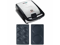 Appliances Online Tefal Snack Collection Sandwich and Waffle Maker with Pancakes Plates Attachment & Donuts Plates Attachment SW852PK
