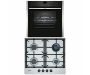 NEFF 60cm Natural Gas Cooktop & 60cm Pyrolytic Oven Pack T26DS59N0AB57CR22N0B