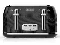 Appliances Online Sunbeam TA2540KP Coastal Collection 4 Slice Toaster - Black Pearl