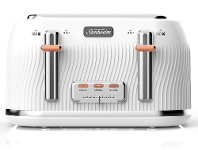 Appliances Online Sunbeam TA2540WS Coastal Collection 4 Slice Toaster - White Sand