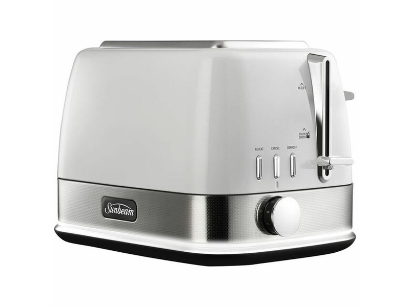 Sunbeam New York Collection 2 Slice Toaster White Silver TA4420WS